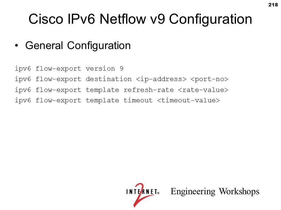 Cisco IPv6 Netflow v9 Configuration