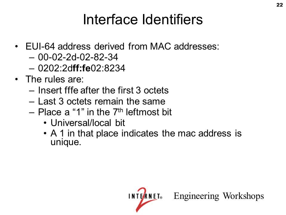 Interface Identifiers