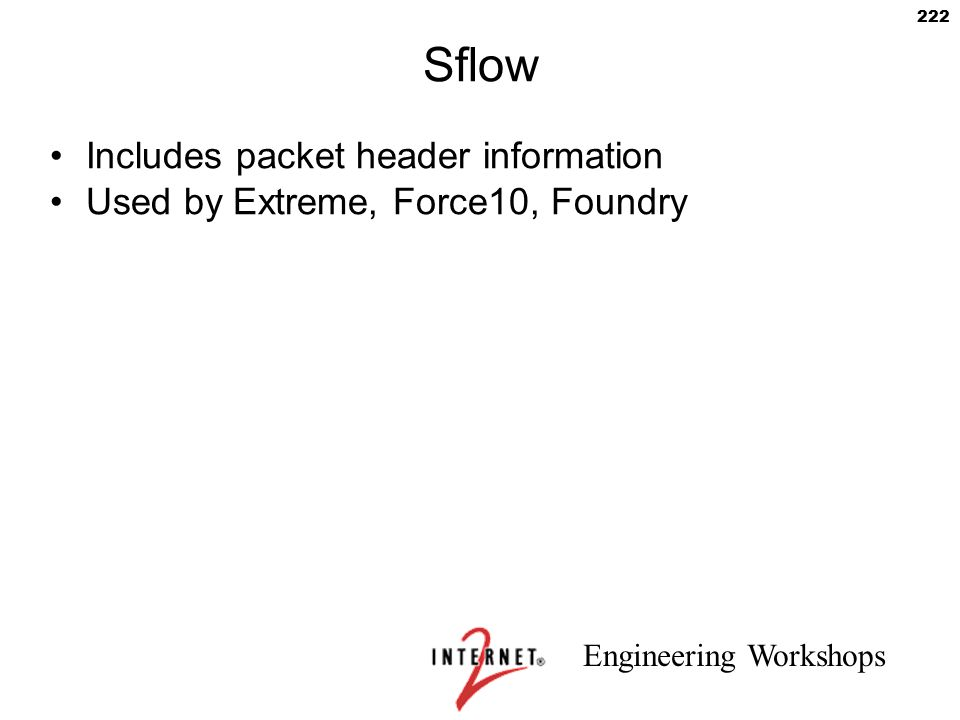 Sflow Includes packet header information
