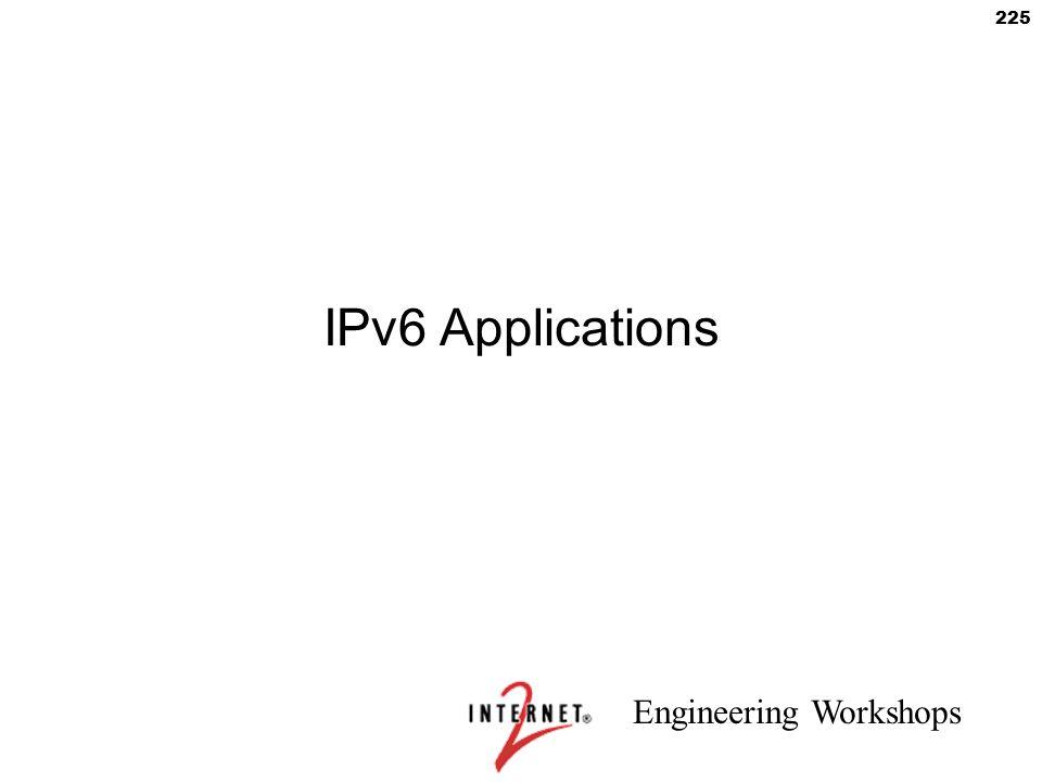 IPv6 Applications 225