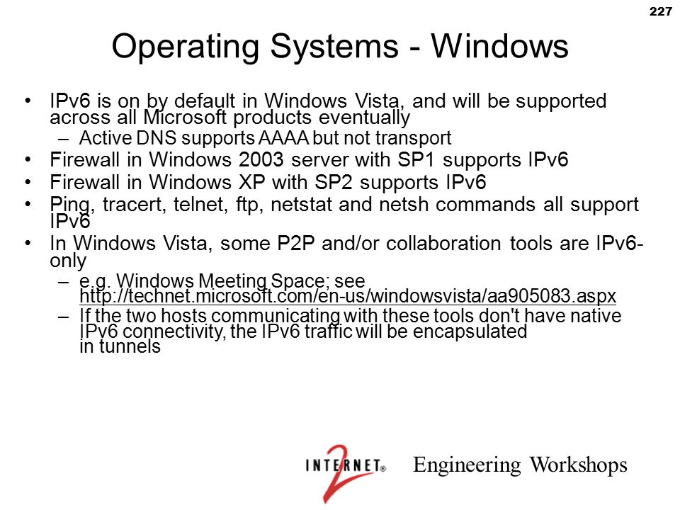 Operating Systems - Windows