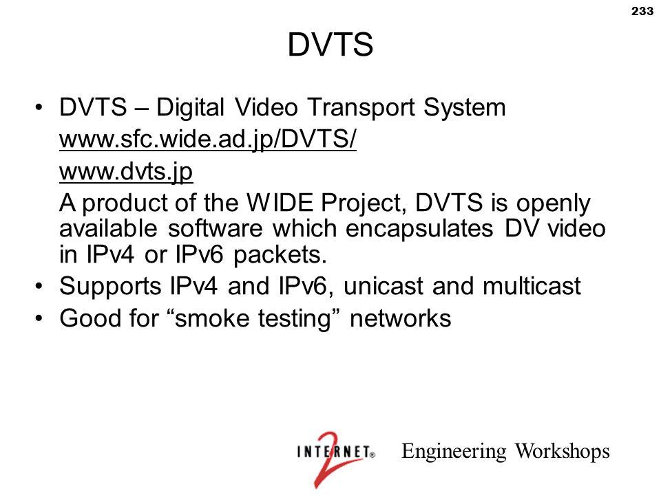 DVTS DVTS – Digital Video Transport System www.sfc.wide.ad.jp/DVTS/