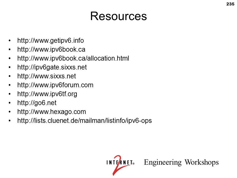 Resources http://www.getipv6.info http://www.ipv6book.ca