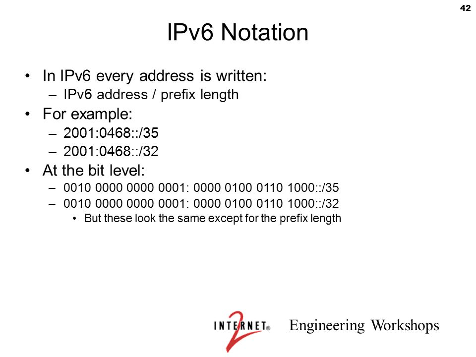 Internet2 IPv6 Workshop ppt download