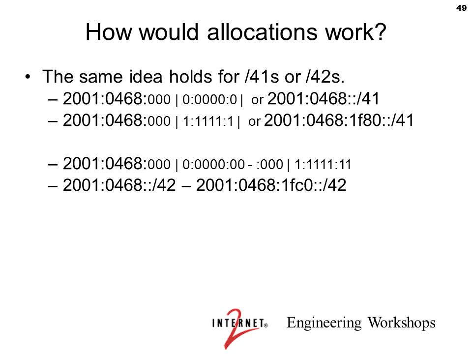 How would allocations work