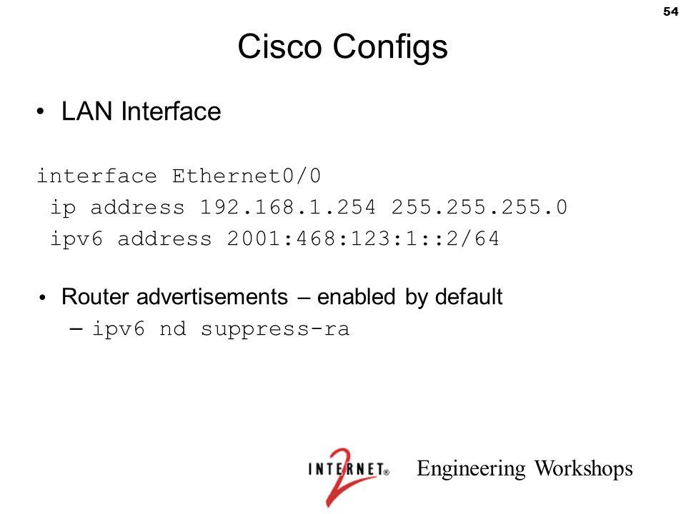 Cisco Configs LAN Interface interface Ethernet0/0