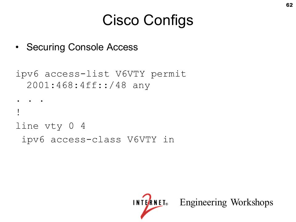 Cisco Configs Securing Console Access