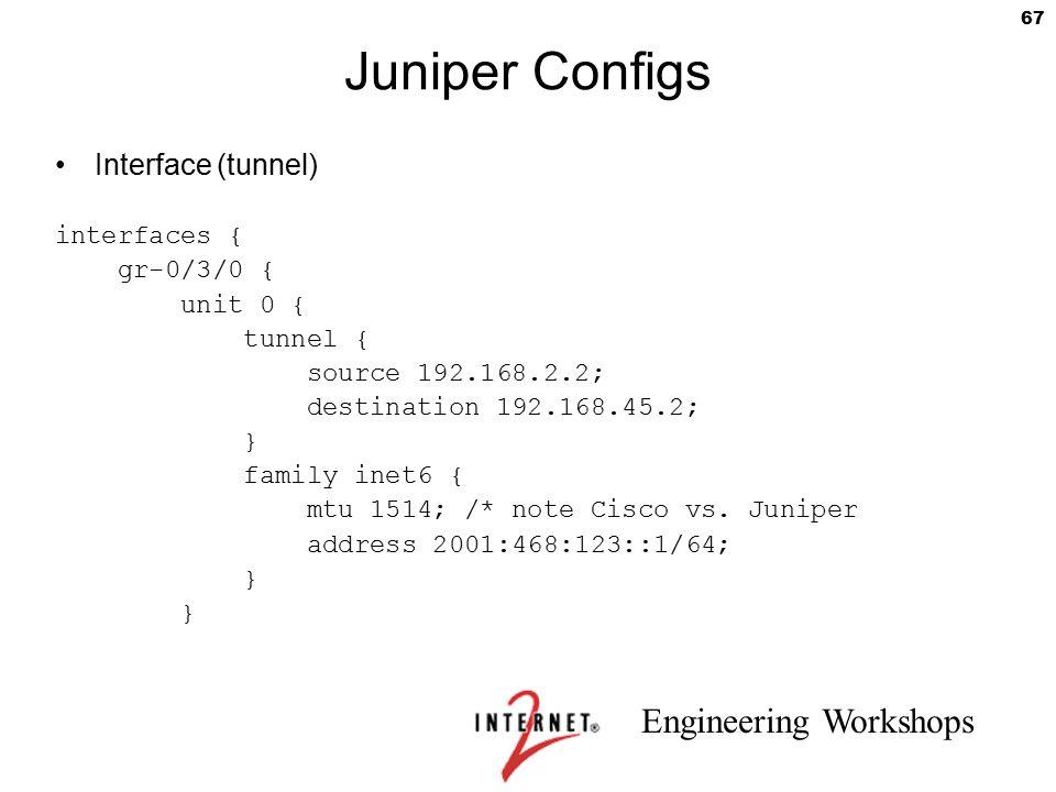 Juniper Configs Interface (tunnel) interfaces { gr-0/3/0 { unit 0 {