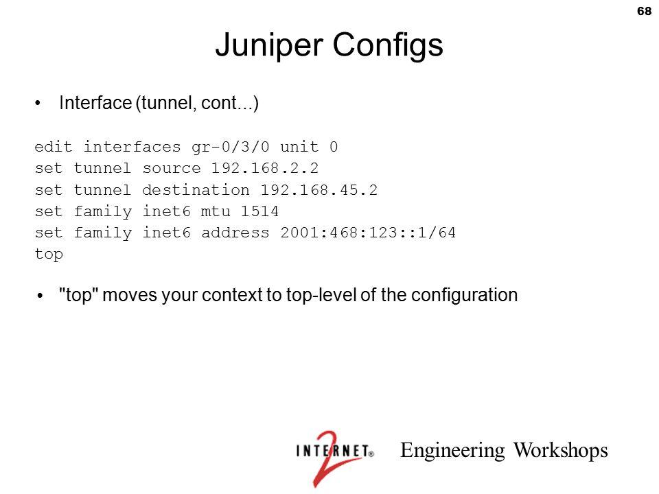 Juniper Configs Interface (tunnel, cont...)