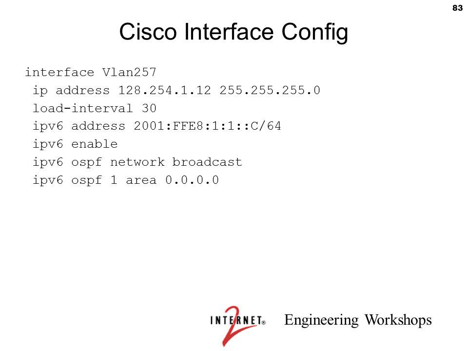 Cisco Interface Config