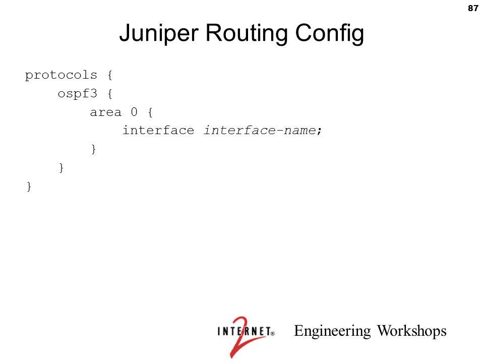 Juniper Routing Config