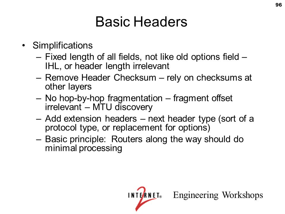 Basic Headers Simplifications