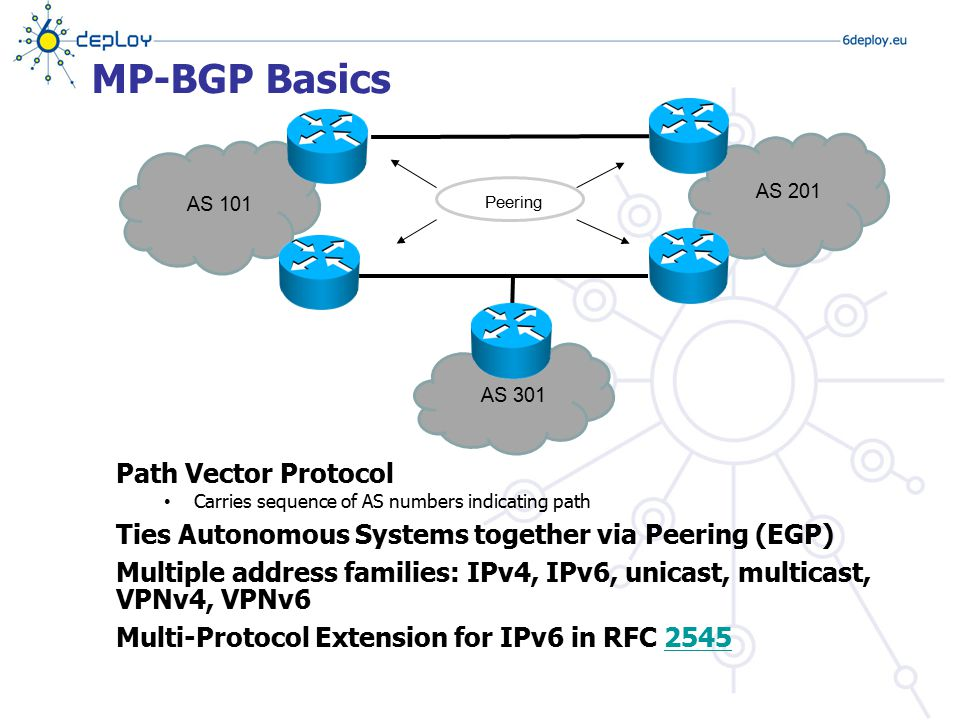 MP-BGP Basics Path Vector Protocol