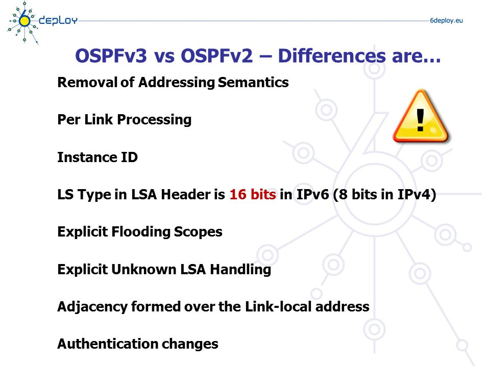 OSPFv3 vs OSPFv2 – Differences are…