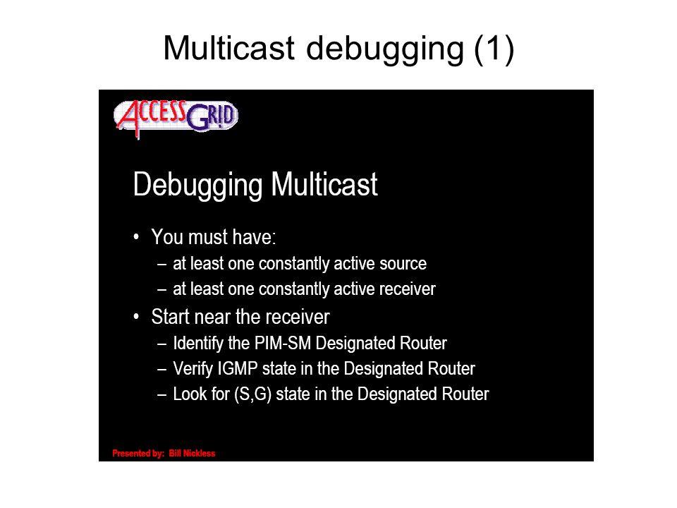 Multicast debugging (1)
