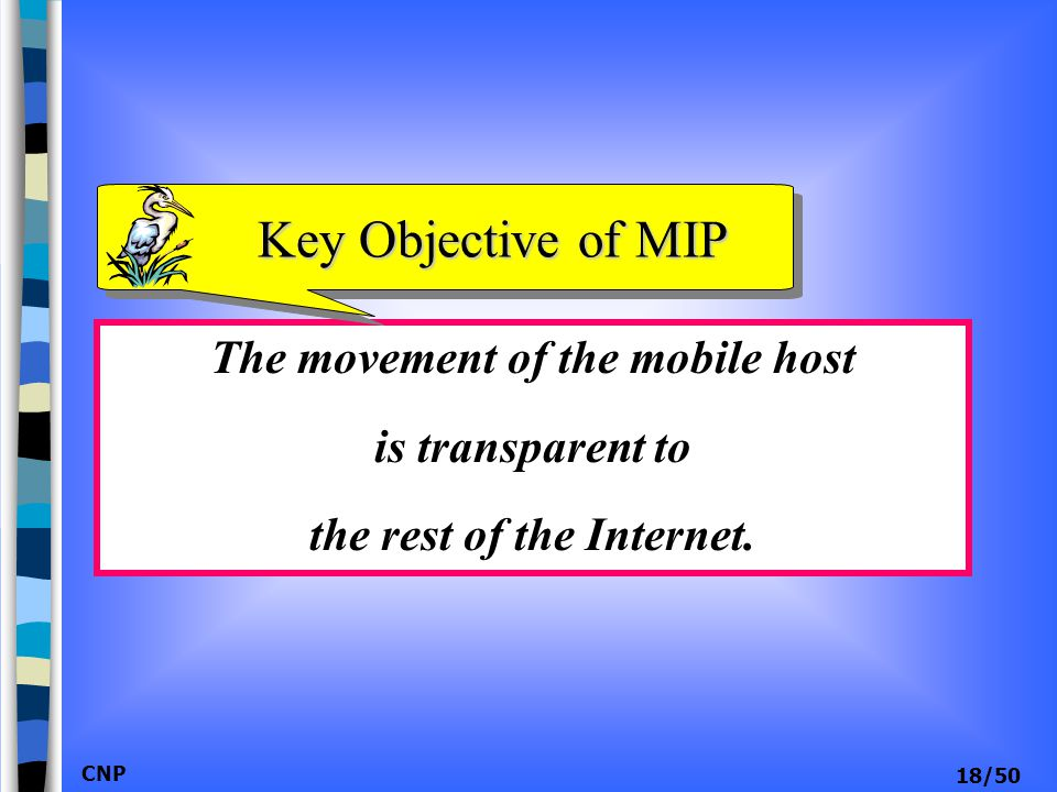 The movement of the mobile host the rest of the Internet.