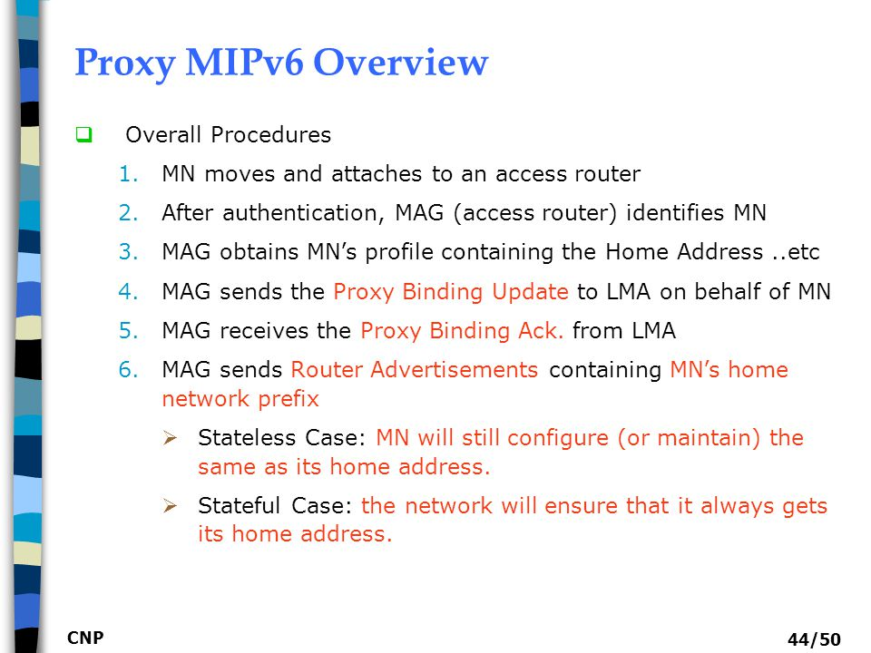 Proxy MIPv6 Overview Overall Procedures
