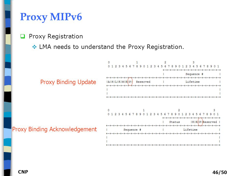 Proxy MIPv6 Proxy Registration