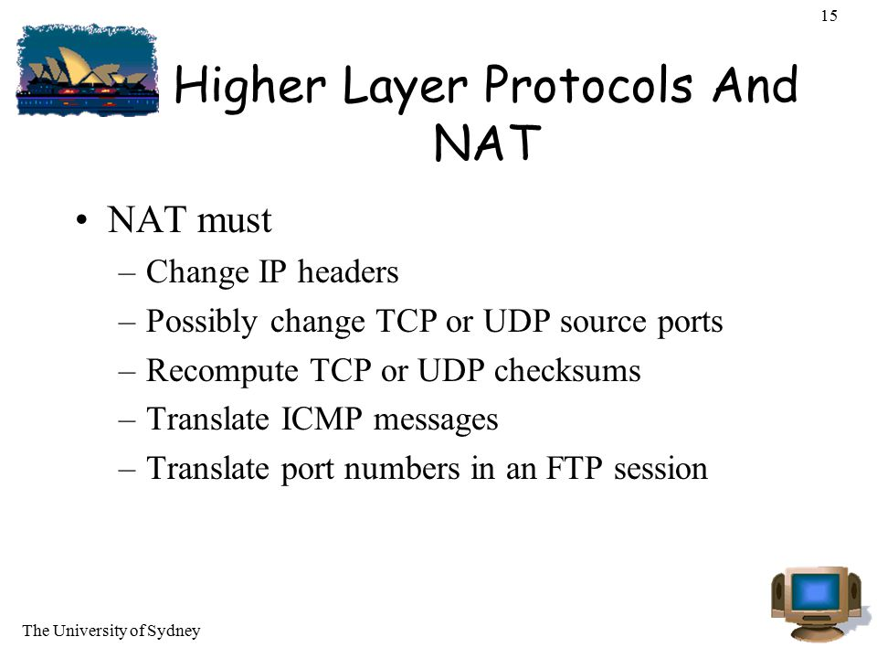 Higher Layer Protocols And NAT