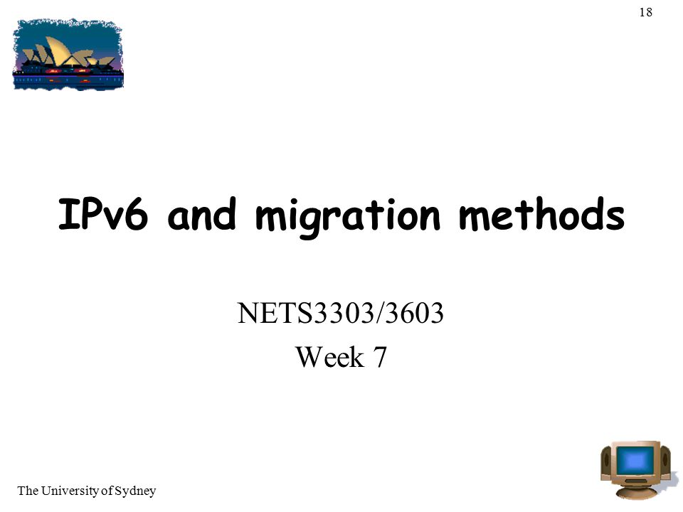 IPv6 and migration methods