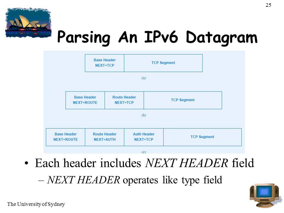 Parsing An IPv6 Datagram