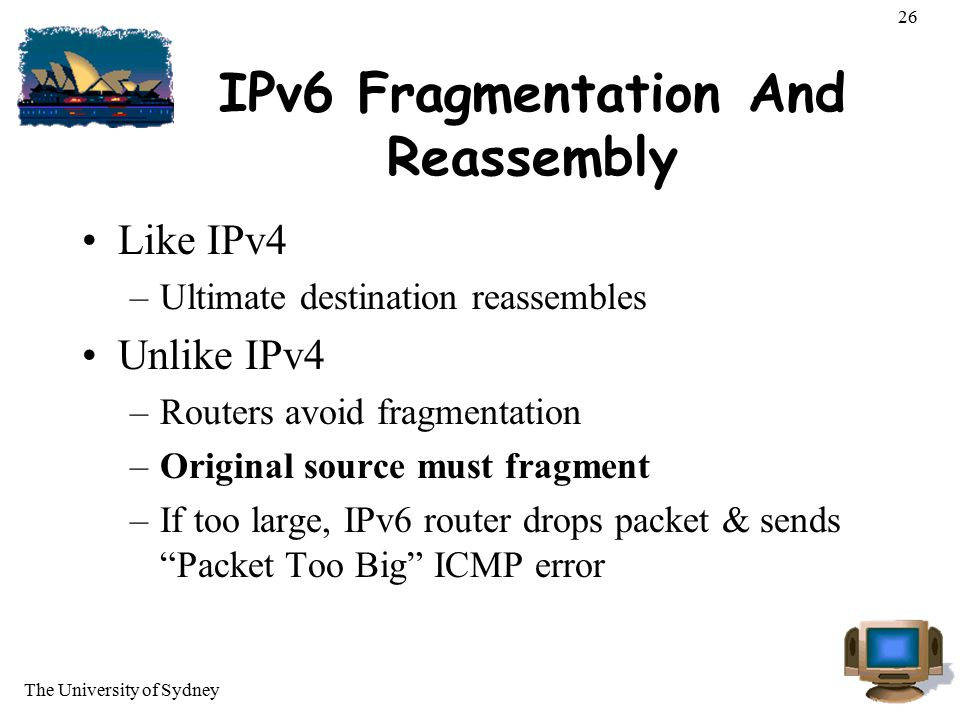 IPv6 Fragmentation And Reassembly