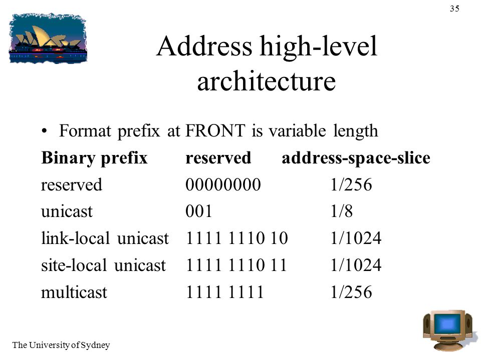 Address high-level architecture