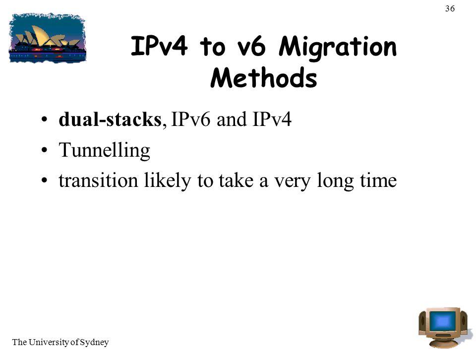 IPv4 to v6 Migration Methods