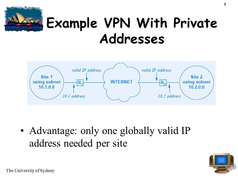 Example VPN With Private Addresses