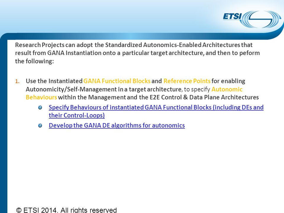 © ETSI 2014. All rights reserved