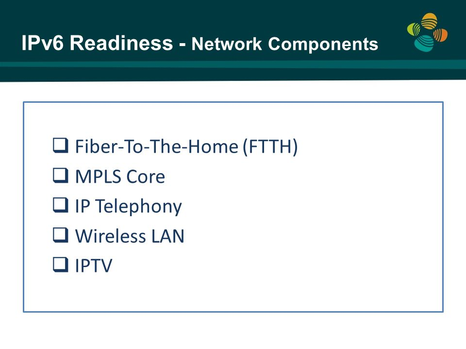 IPv6 Readiness - Network Components