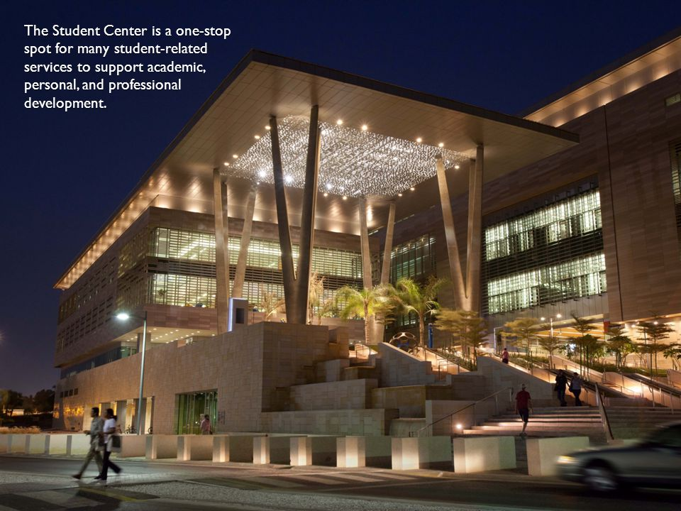 The Student Center is a one-stop spot for many student-related services to support academic, personal, and professional development.