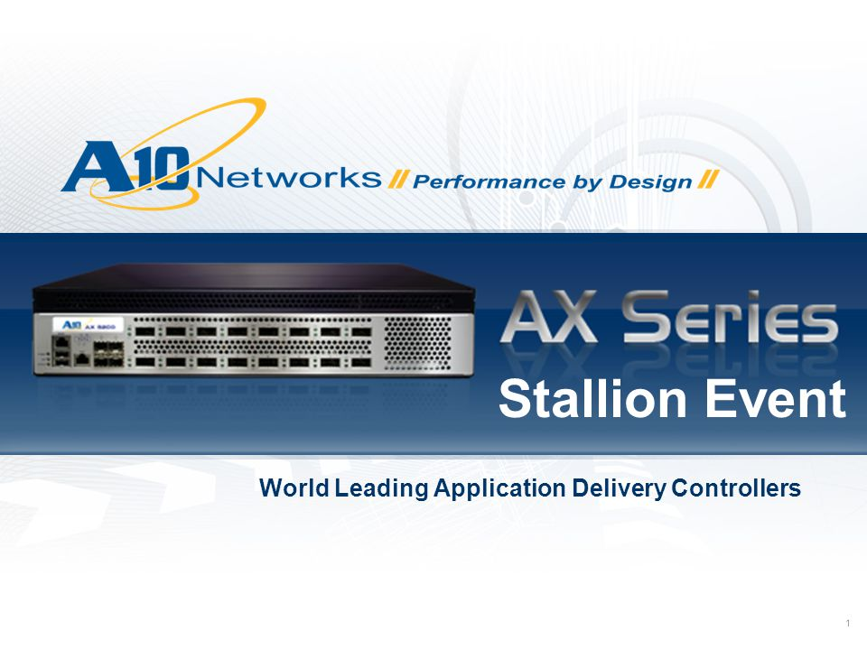 World Leading Application Delivery Controllers