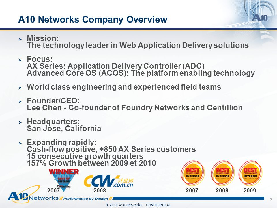 A10 Networks Company Overview