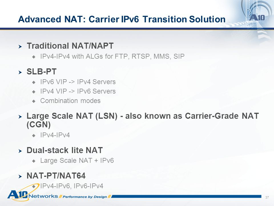 Advanced NAT: Carrier IPv6 Transition Solution