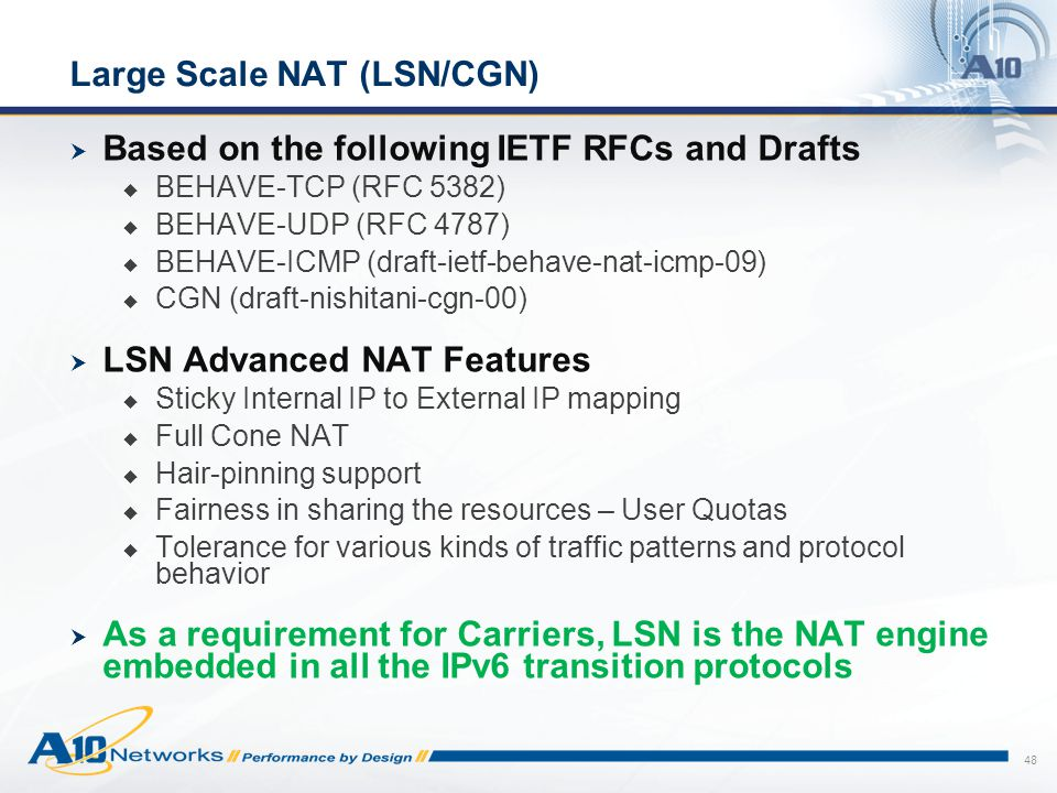 Large Scale NAT (LSN/CGN)