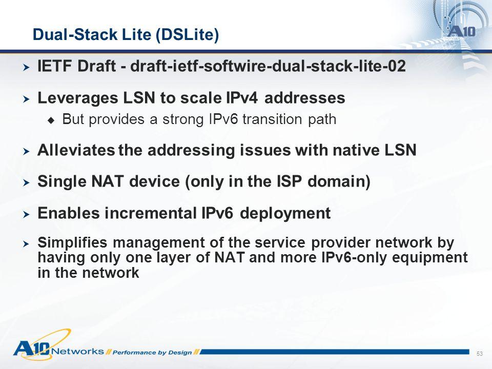 Dual-Stack Lite (DSLite)