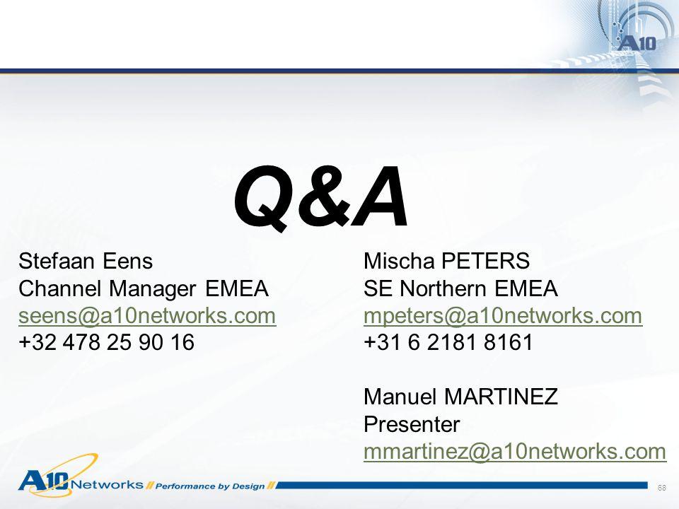 Q&A Stefaan Eens Channel Manager EMEA seens@a10networks.com