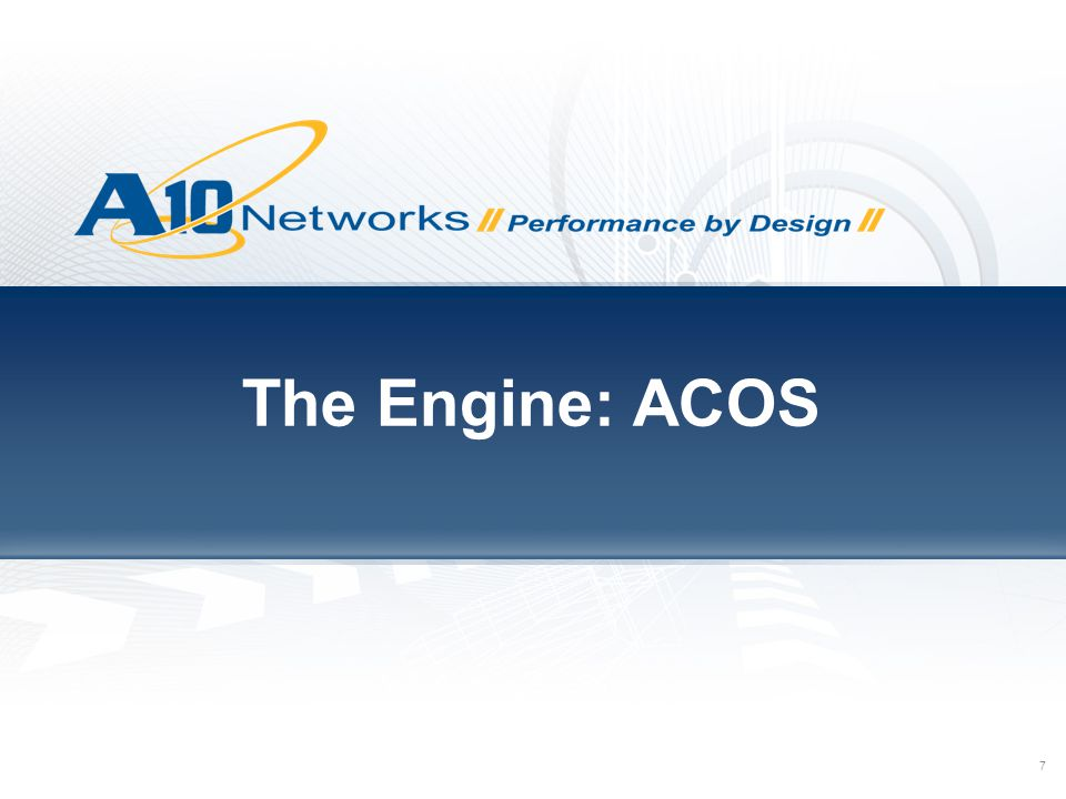 The Engine: ACOS