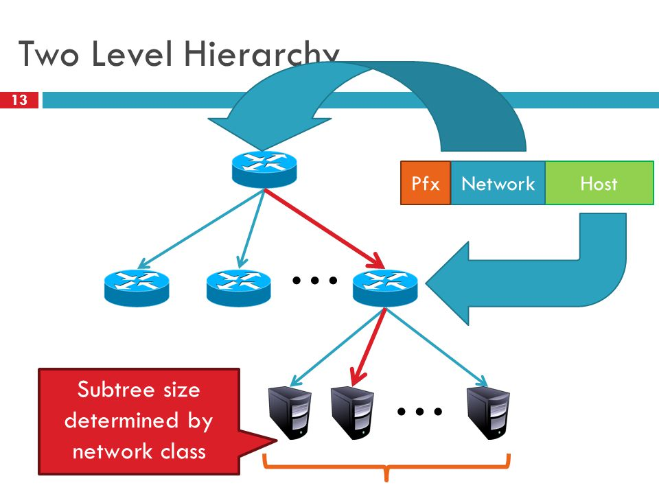 Subtree size determined by network class