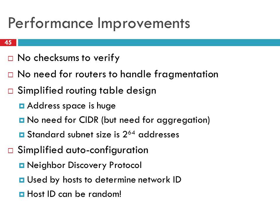 Performance Improvements