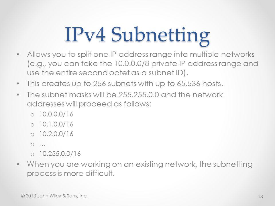 IPv4 Subnetting