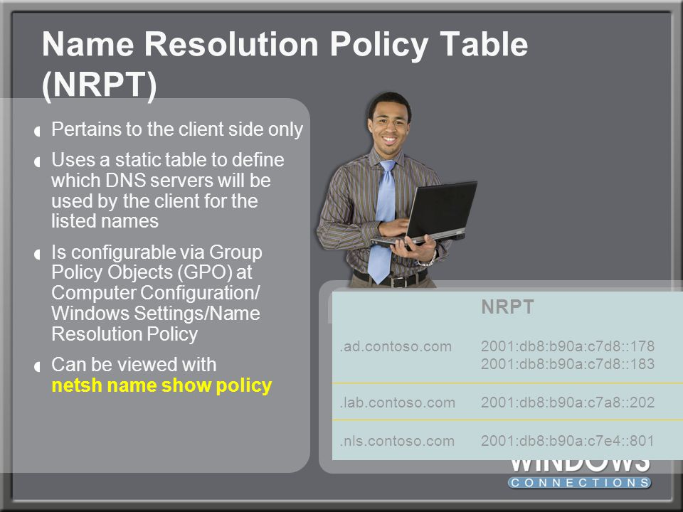 Name Resolution Policy Table (NRPT)