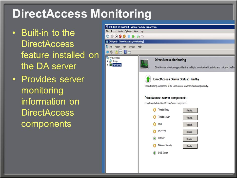 DirectAccess Monitoring