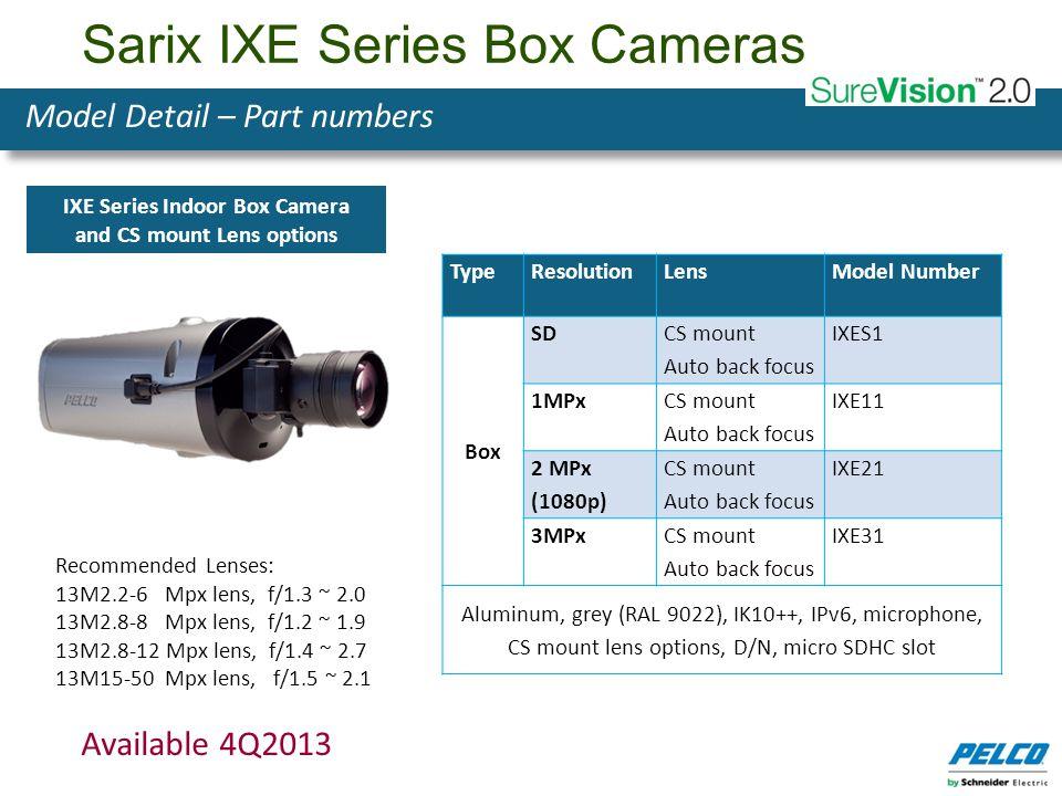 Sarix IXE Series Box Cameras