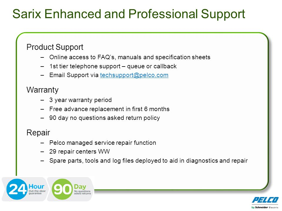 Sarix Enhanced and Professional Support