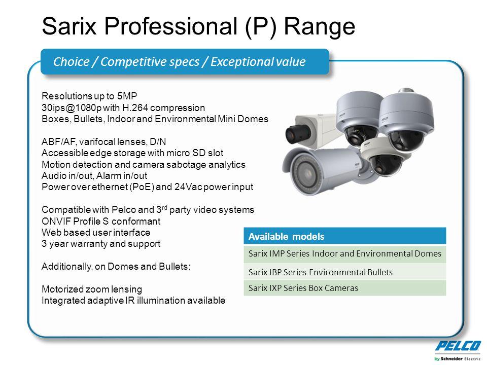 Sarix Professional (P) Range