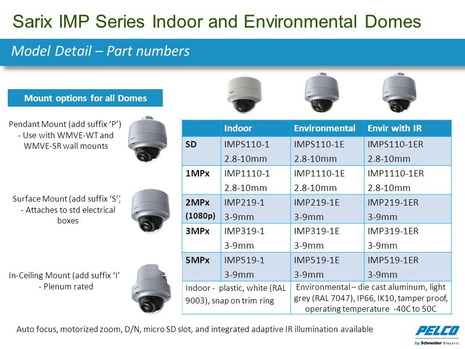 Sarix IMP Series Indoor and Environmental Domes