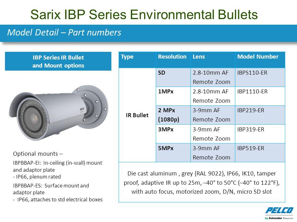 Sarix IBP Series Environmental Bullets