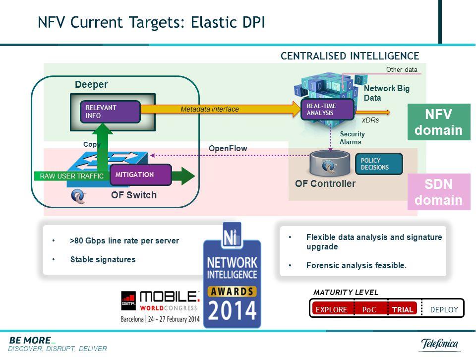 NFV Current Targets: Elastic DPI